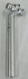 Zadelpen Gazelle 27.2mm ZILVER vast L=235mm