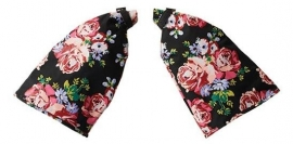 Handmoffen Basil blossom roses zwart