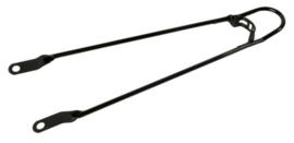 Spatbordstang 28x1 5/8 bumper zwart staal asbevestiging