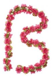 Bloemenslinger Basil Flower Garland Roze / Fuchsia