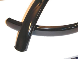 "Spatbordset 26"" staal ZWART 60mm breed"