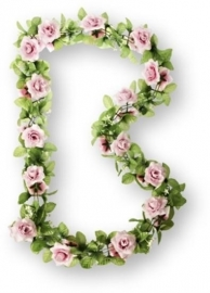 Bloemenslinger Basil Flower Garland Rozen, Roze