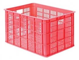 Krat kunststof Basil Crate L FLUOR KORAAL / ROZE 50 liter