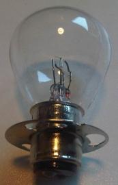 Lamp 6V 20/20W P15D duplo met kraag