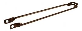 "Spatbordstang 28"" bruin metallic staal asbevestiging"