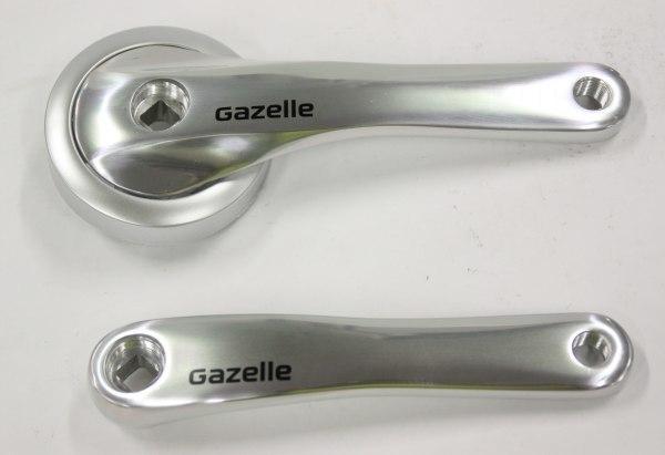 Crankstel Gazelle Impulse / Easy Glider ZILVER voor e-bikes met middenmotor