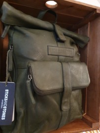 Messenger Backpack Cow Vegetable Tan Dark Olive 19527