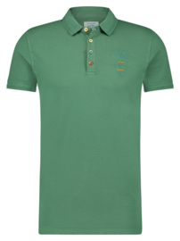Polo Garment Dye Grey Green 22.03.310