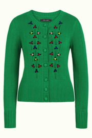 Cardi Roundneck Toffee Very Green 06405