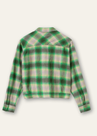Bliss Blouse Yarn Dyed Shadow Check Light Green