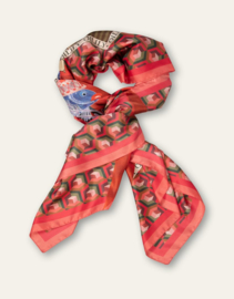 Atogethermess Woven Scarf Red