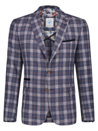 Blazer Small Blue Orange Check 22.01.115