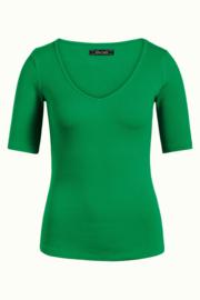Carice V Top Rib Tencel Very Green