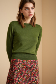 Audrey Top Organic Lapis Forest Green 06432