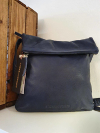 Strasbourg Bag Buff Washed Dark Blue