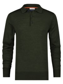 Knitted Merino Polo Green 23.02.404