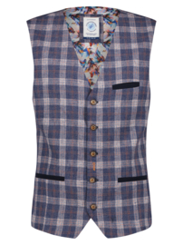 Waistcoat Small Blue Orange Check 22.01.145