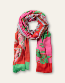Aprom Woven Scarf Pink