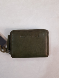Hudson Wallet Cow Vegetable Tan Dark Olive