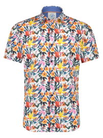 Shirt SS Floral White 22.03.052
