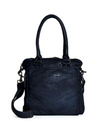 Belize Bag Buff Washed Midnight Blue 17719