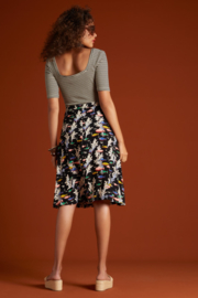 Gemma Top Tweedy Stripe Black 06250