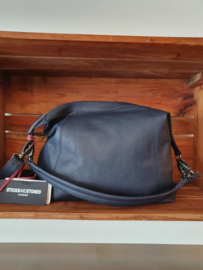 Savona Bag Buff Washed Dark Blue