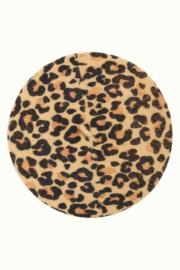 Beret Leopard Marzipan