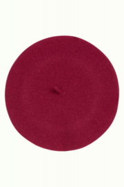 Beret Wool Lilac Red