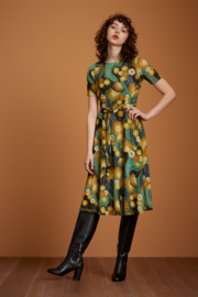 Betty Party Dress Scone Dragonfly Green 06667