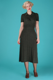 The Peachy Keen Knit Dress Pine Green