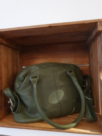 Frascati Bag Cow Vegetable Tan Dark Olive 22323
