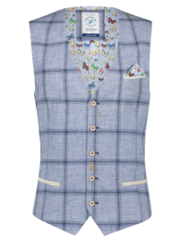 Waistcoat Big Light Blue Check 22.02.133