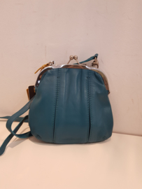Ravenna Bag Buff Washed Deep Lagoon
