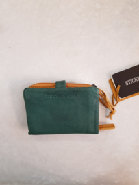 Laguna Wallet Buff Washed Green Spruce