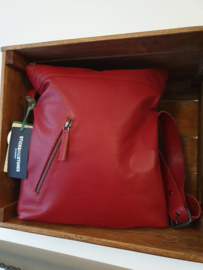 City Bag Buff Washed Red