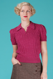 The Tiptop Knit Top Raspberry