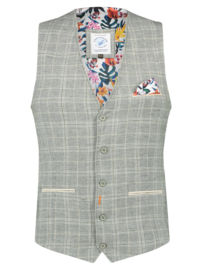 Waistcoat Washed Linen Green 22.02.144