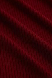 Rollneck Top Uni Rib Tencel Pecan Brown 05547
