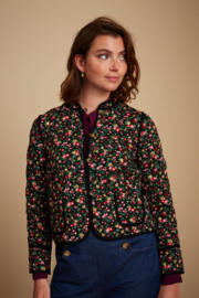 Mia Quilted Jacket Buttercup Black 06556