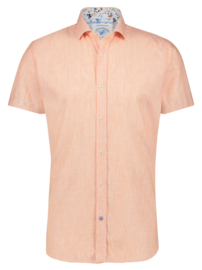 Shirt SS Linen Orange 22.03.094