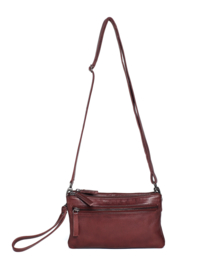 Ibiza Bag Cow Vegetable Tan Burgundy 20913