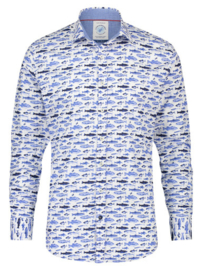 Shirt Small Fishes Blue 23.01.014