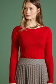 Audrey Top Heart Ajour Red 04447