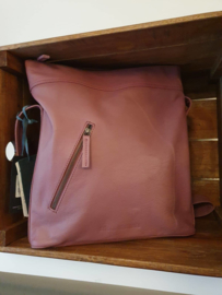 City Bag Buff Washed Mauve Pink