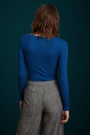 Lily Top Uni Rib Tencel Blue Bird 06449