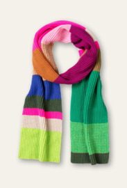 Amour Knitted Scarf Colorblock Kombu Green