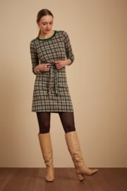 Zoe Dress West End Check Peacock Green 06450
