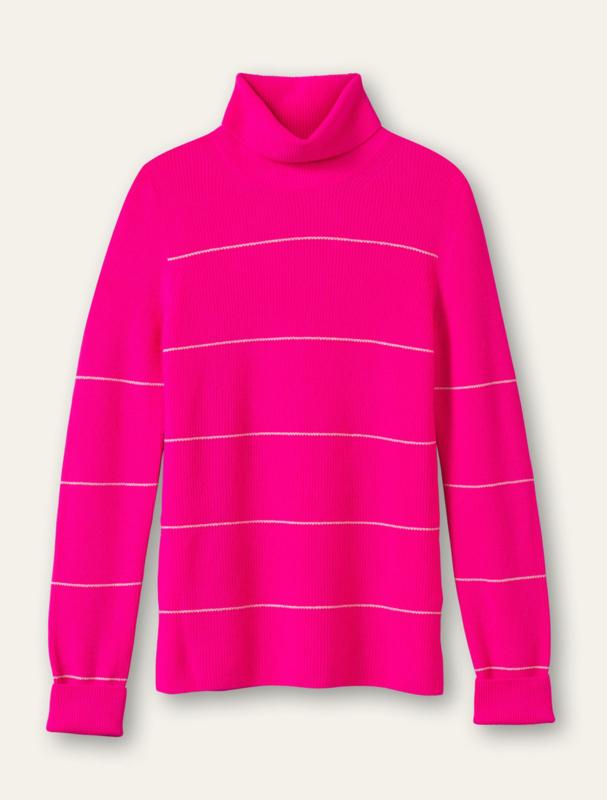 Kitty Pullover Pinstripe Pink Glow