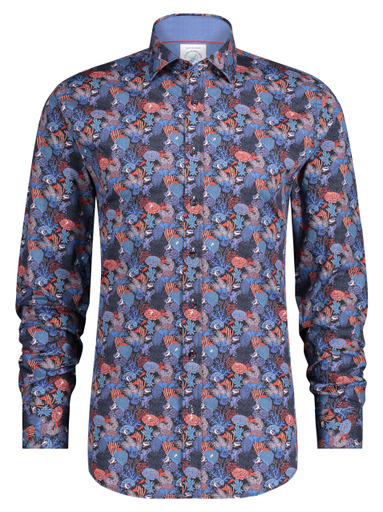 Shirt Coral Navy Red 23.01.007